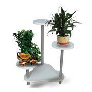White flower pot stand FS-434357