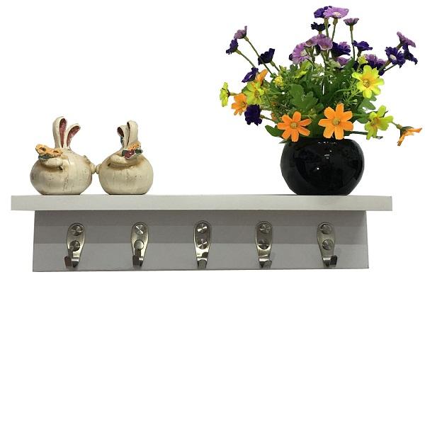 Wall shelf with hooks WS-408585