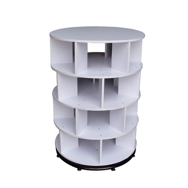 White Round Rotary Shoe Case SC-6085