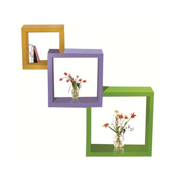 Wooden wall shlelf design WS-4854859B