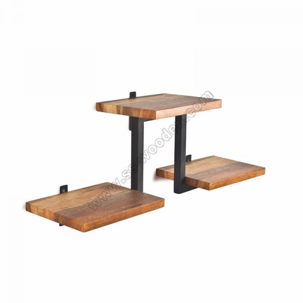 2-Tier Wall Shelf with Tube SS-IN801
