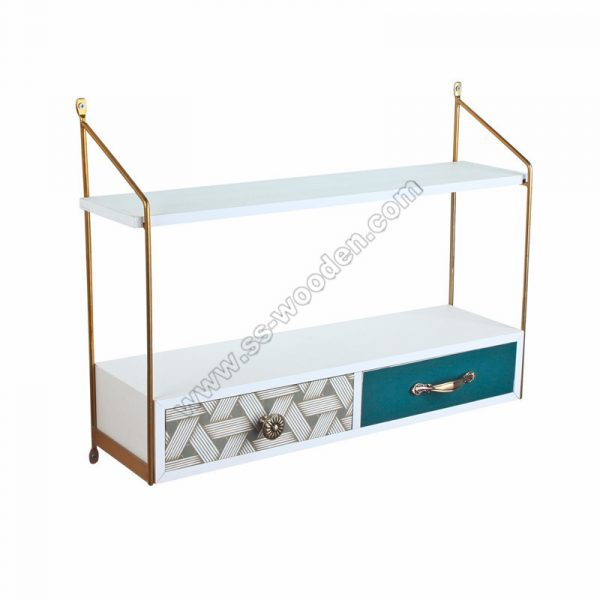 2-Tier Wall Shelf with drawers SS-MO607
