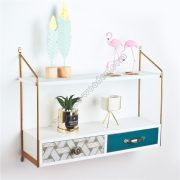 2-Tier Wall Shelf with drawers SS-MO607-D