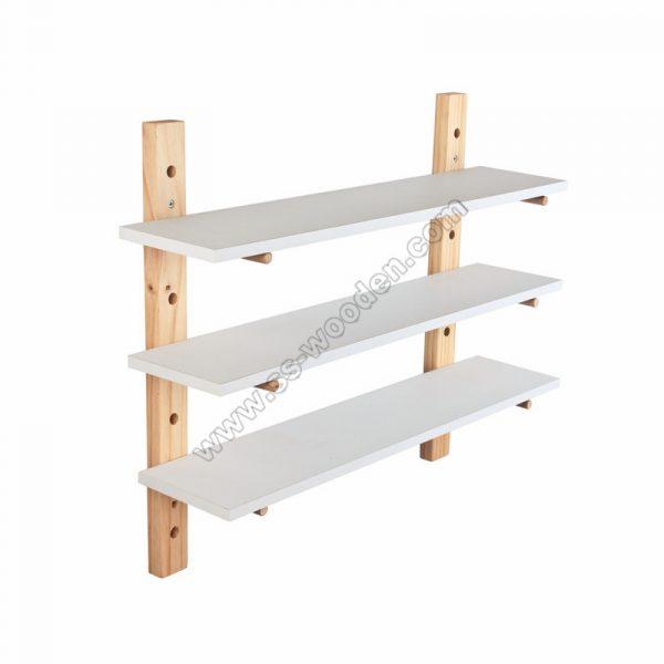 3-Tier Adjustable Pine Wall Shelf SS-MO609