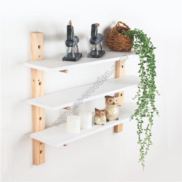 3-Tier Adjustable Pine Wall Shelf SS-MO609-D