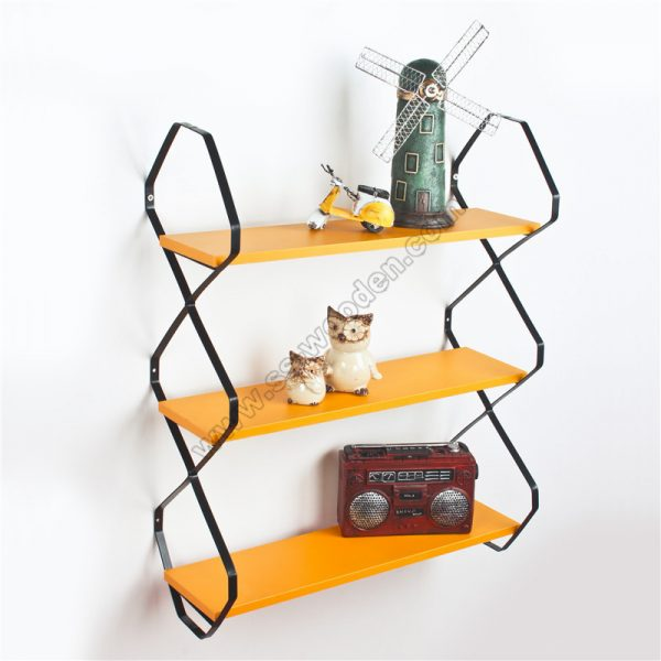 3-Tier Floating Shelf with metal brackets SS-MO606-D