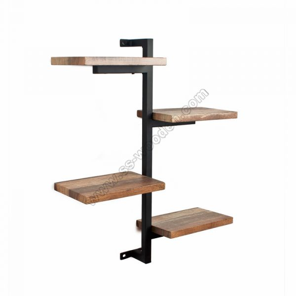 4-Tier Wall Shelf with Tube SS-IN802
