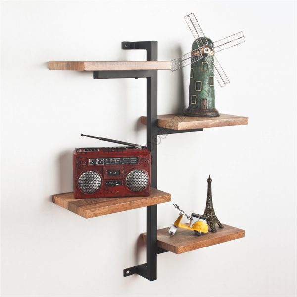 4-Tier Wall Shelf with Tube SS-IN802-D