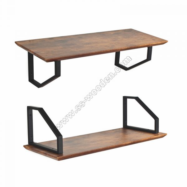 Floating Wall Shelf with Brackets SS-IN809