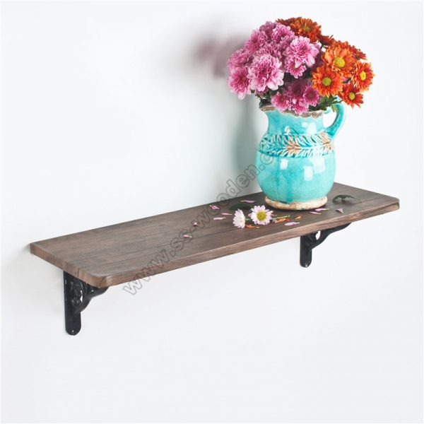 Floating Wall Shelf with Brackets SS-IN811-D