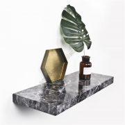 Marble Floating shelf SS-MO603black-D