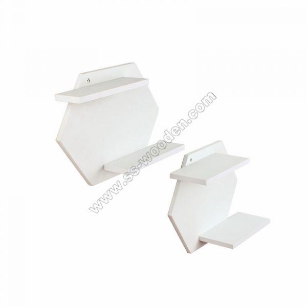 Set of 2 Hexagon Wall Shelf SS-MO602