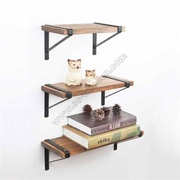 Set of 3 Floating Shelves Wall Mounted SS-IN808-D